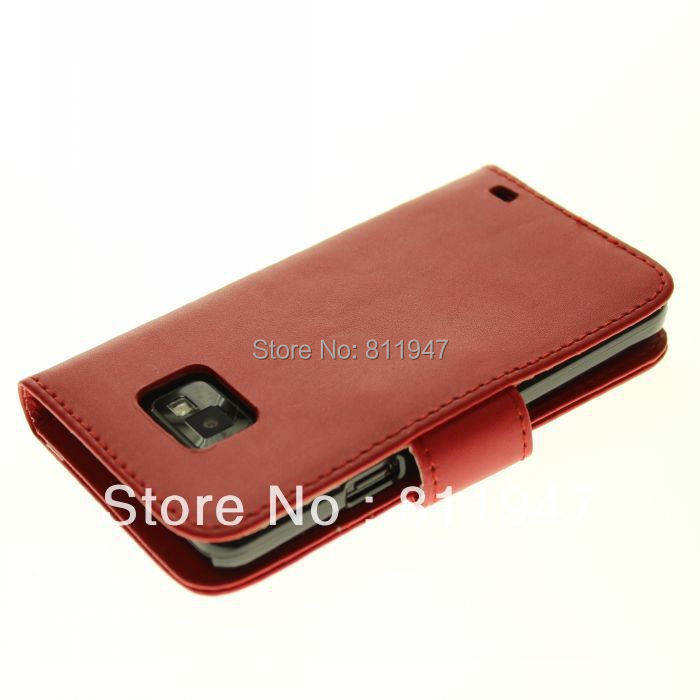 Mobile Phone Bag For Samsung Galaxy S2 SII 2 I9100 PU Leather Wallet Case For Samsung Galaxy S2 I9100 Smartphone Protective Capa(China (Mainland))