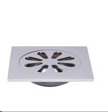 Free shipping Perfect design   brass  floor drain 100mm*100mm*23mm Deodorant -8818-50