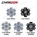 CHANZON 1W 3W 5W LED Heat Sink Aluminum Base Plate PCB Board Substrate 20mm Star RGB