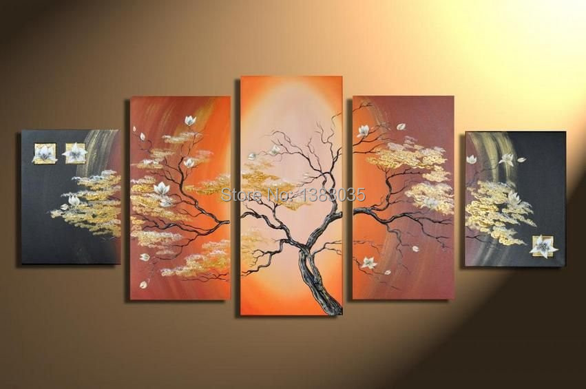 hand painted picture of tree oil painting modern abstract. Black Bedroom Furniture Sets. Home Design Ideas