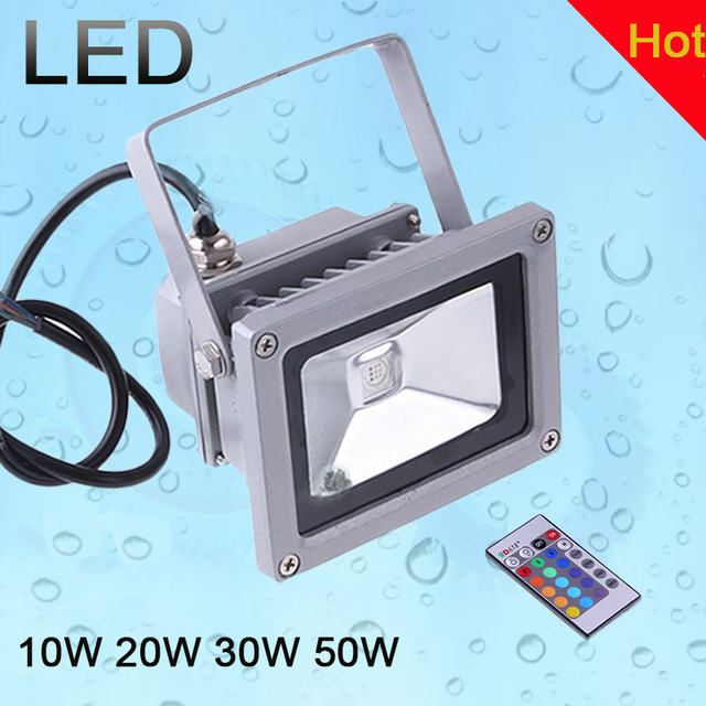 10w 20w 30w 50w rgb refletor de led spotlight for garden for Focos led exterior 50w