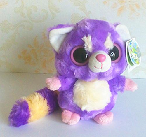 Yoohoo friends big eye animals 15cm 2pcs/lot plush toy purple panda stuffed animal doll for baby car decoration yx102(China (Mainland))