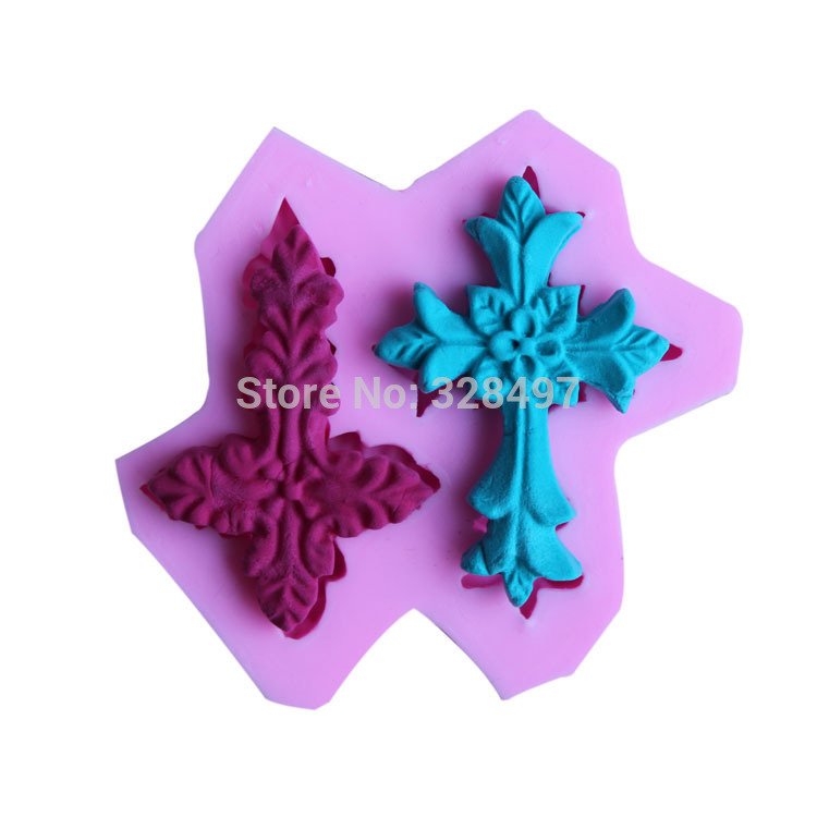 Two Cross Shape 3D Silicone Cake Mold, Bakeware Decorating, For DIY Cake Tool,Soap,Jelly,Candy Mold G039(China (Mainland))