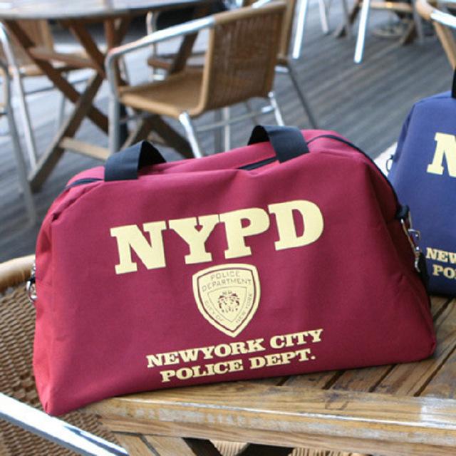 Новый Дизайн Моды NYPD Письмо Холст Случайный Большой Tote Сумки Уникальный Плеча ...