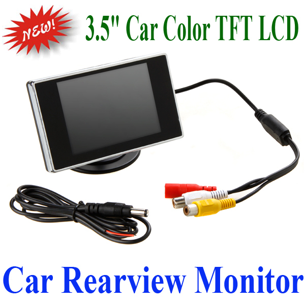 """Dashboard Placement 3.5"""" Car Color TFT LCD Monitor Car TV Monitor Fit for Car Reverse Backup Review Camera DVD(China (Mainland))"""