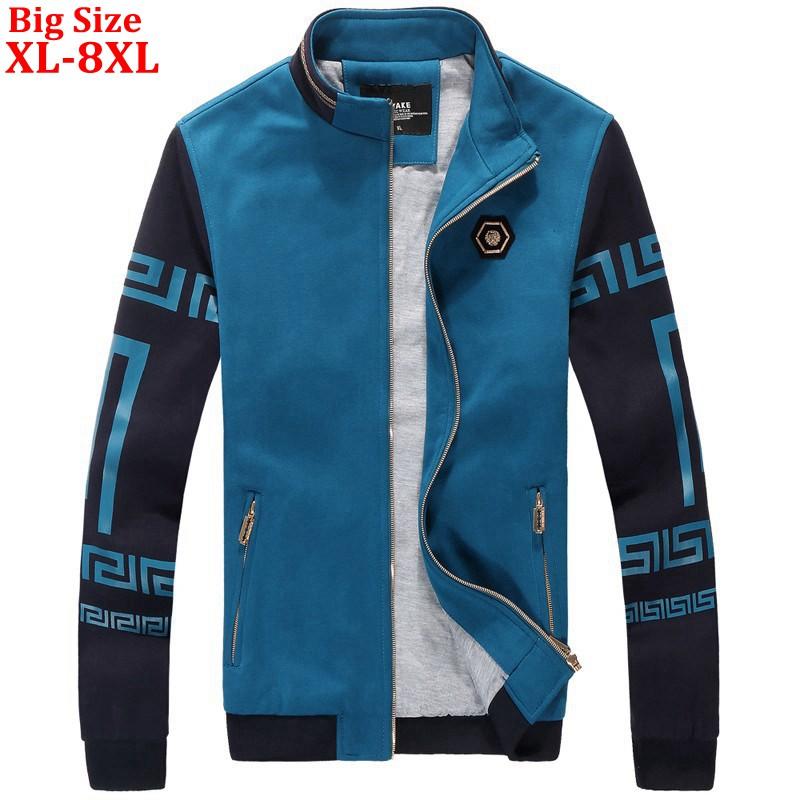 2017 New Autumn Men Sweatshirts Youth Fashion Cotton Outerwear Casual Plus Size XL 2XL 3XL 4XL 5XL 6XL 7XL 8XL Punk Men Clothes(China (Mainland))
