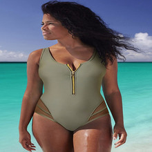 NEW Big Size Women Sexy V-neck Swimwear One Piece Swimsuit Female Swimming Suits Bathing Suit Swim Wear Swimsuits for Women