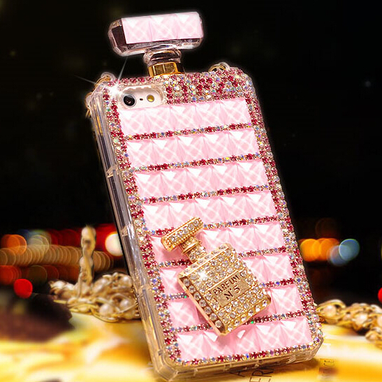 Perfume Bottle Phone case Stylish Luxury Bling Crystal Diamond Clear Case iphone 4 4s 5 5S 5C 6 4.7inch 6plus 6s plus - yanzhu cai's store