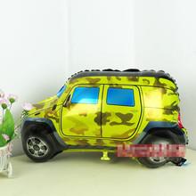 10 unids/lote dibujos animados en forma de coche Alumium Foil globos cumpleaños de los niños decoración fiesta de los niños de aire inflable bolas