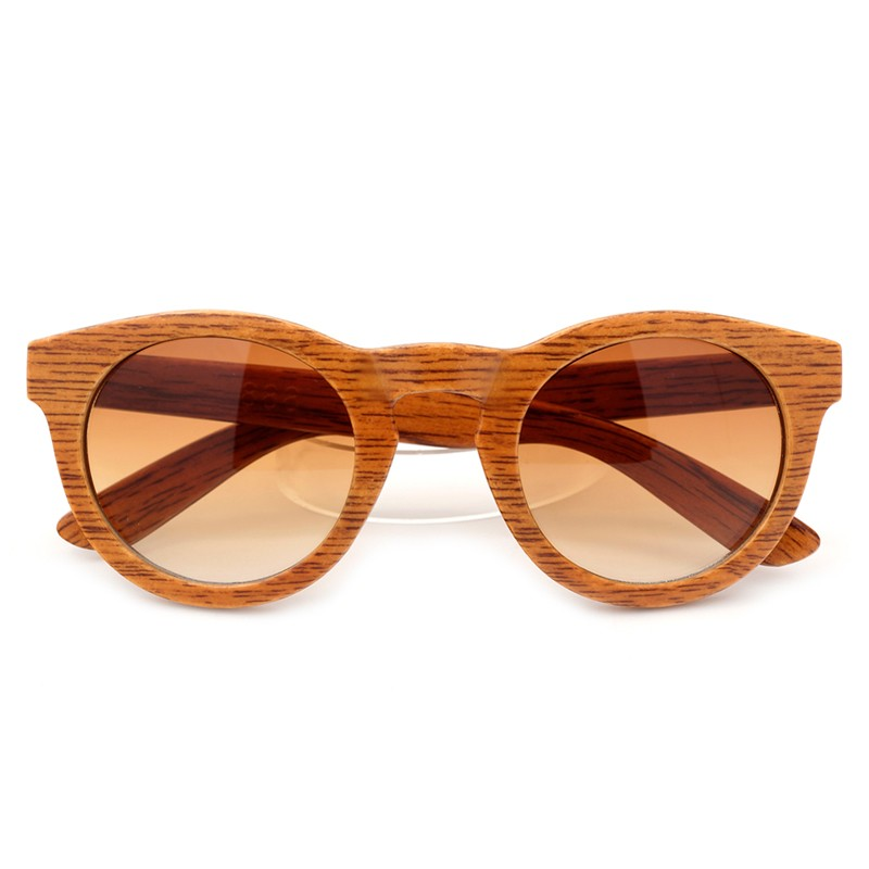 BOBO BIRD Womens Bamboo Wood Grain Cat Eye Sunglasses