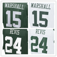 Mens 15 Brandon Marshall 22 Matt Forte 24 Darrelle Revis 12 Joe Nama 87 Eric Decker jersey, jersey,White,Green,Size M-XXXL(China (Mainland))