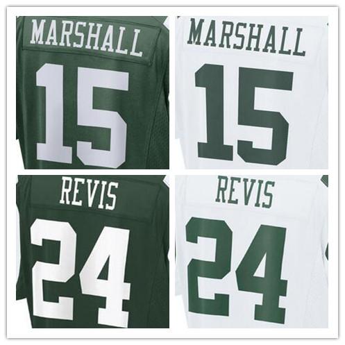 Mens 15 Brandon Marshall 22 Matt Forte 24 Darrelle Revis 12 Joe Nama 87 Eric Decker jersey, jersey,White,Green,Size M-XXXL(China (Mainland))