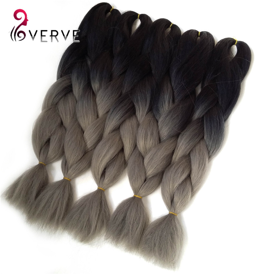 Ombre Kanekalon Braiding Hair 24inch Synthetic Brading Hair Extension 100g/pcs Ombre Braiding Hair two tone Jumbo Braiding Hair<br><br>Aliexpress