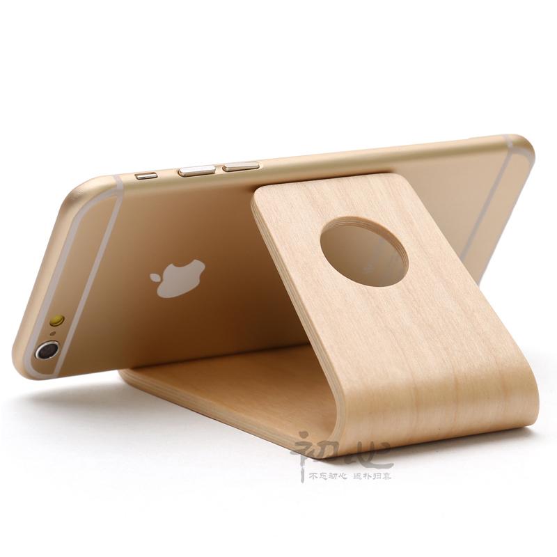 Birch Wooden Modern Style Mobile Phone Holder Creative Mini Portable Phones Fixed Holder Simple Debris Storage Rack(China (Mainland))