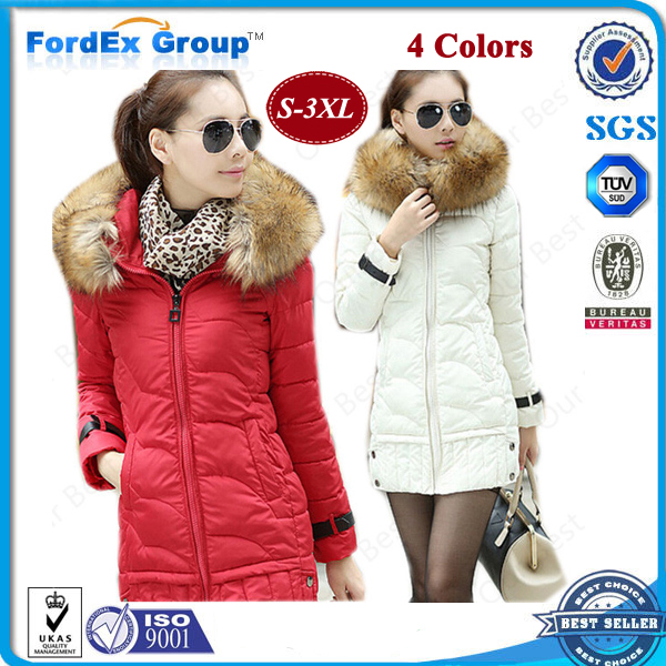 2015 Jacket Women Winter Coat Thicken Slim Female Faux Fur Collar Hood Long Parka Plus Size S-3XL - Fordex Industrial Group Limited store