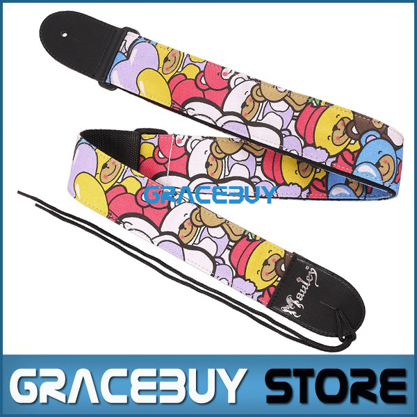 Guitar Strap Personalized Electric Acoustic Bass Guiter Adjustable Nylon Personalised Cartoon Straps New(China (Mainland))