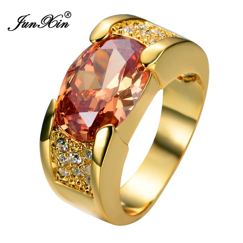 Buy Champagne Yellow Gold Filled Ring Men 39 S 10kt Finger Rings Man Fashion