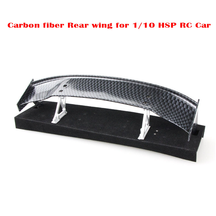 Universal Carbon Fiber Rear Wing Spare Tuning Parts for 1/10 HSP RC Drift Cars Hot Sales Best Price(China (Mainland))