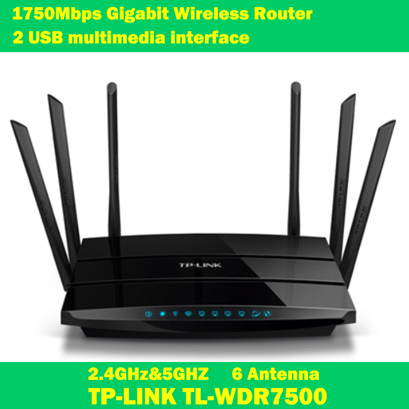 TP-LINK TL-WDR7500 2.4GHz &amp; 5GHz dual-band wireless router antenna 6 1750Mbps Gigabit port USB multimedia print storage<br><br>Aliexpress