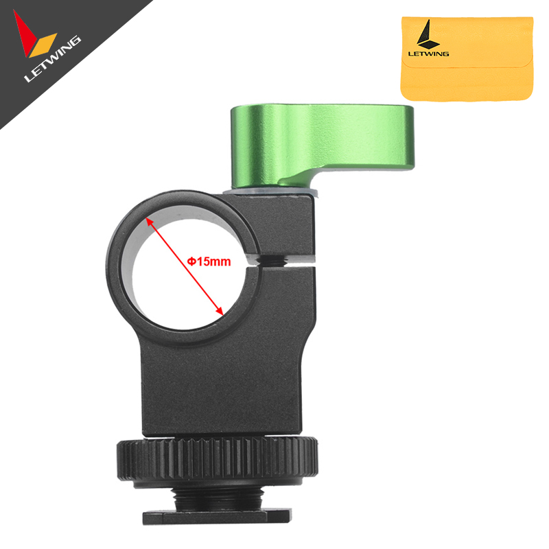 Lanparte Hot Shoe Mount 15mm Single Rod Clamp HSMC-01 for DSLR Flash Light Microphone<br><br>Aliexpress