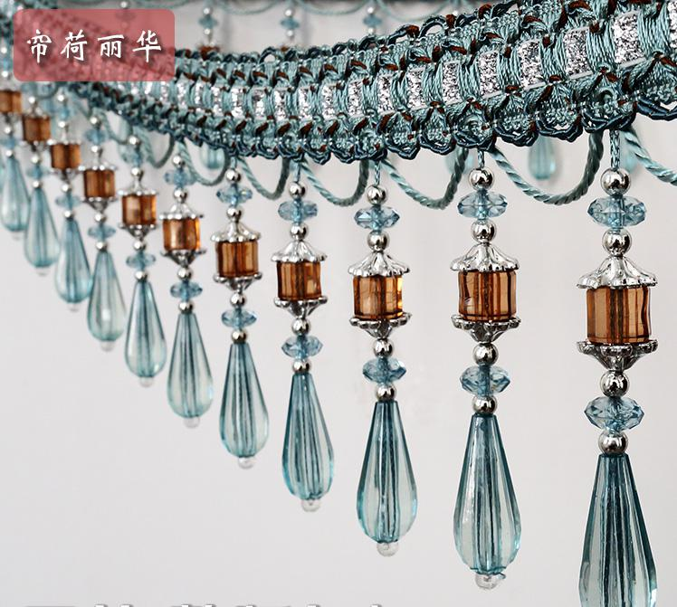 Hot Sale Luxury Fashion Craft Curtain Lace High Quality Curtain Tassel Beaded Fringe Sewing Curtian For Curtain Free Shipping(China (Mainland))