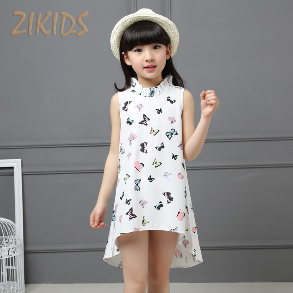 Party Children's Dresses Tuxedo Dress For Girls Unique Butterfly Print Kids Clothes Brands Girl Costume Summer 2016 Sale Fashion(China (Mainland))