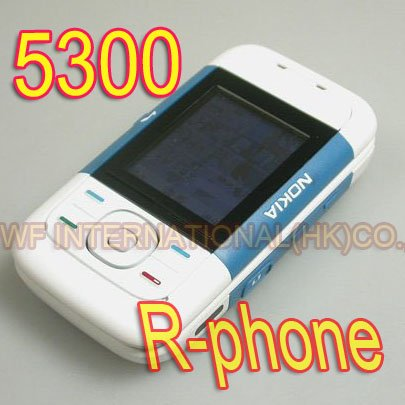 Original Nokia 5300 Classic Mobile Cell Phone Slider Phone Unlocked 2G GSM Tri-Band Blue & Gift(China (Mainland))