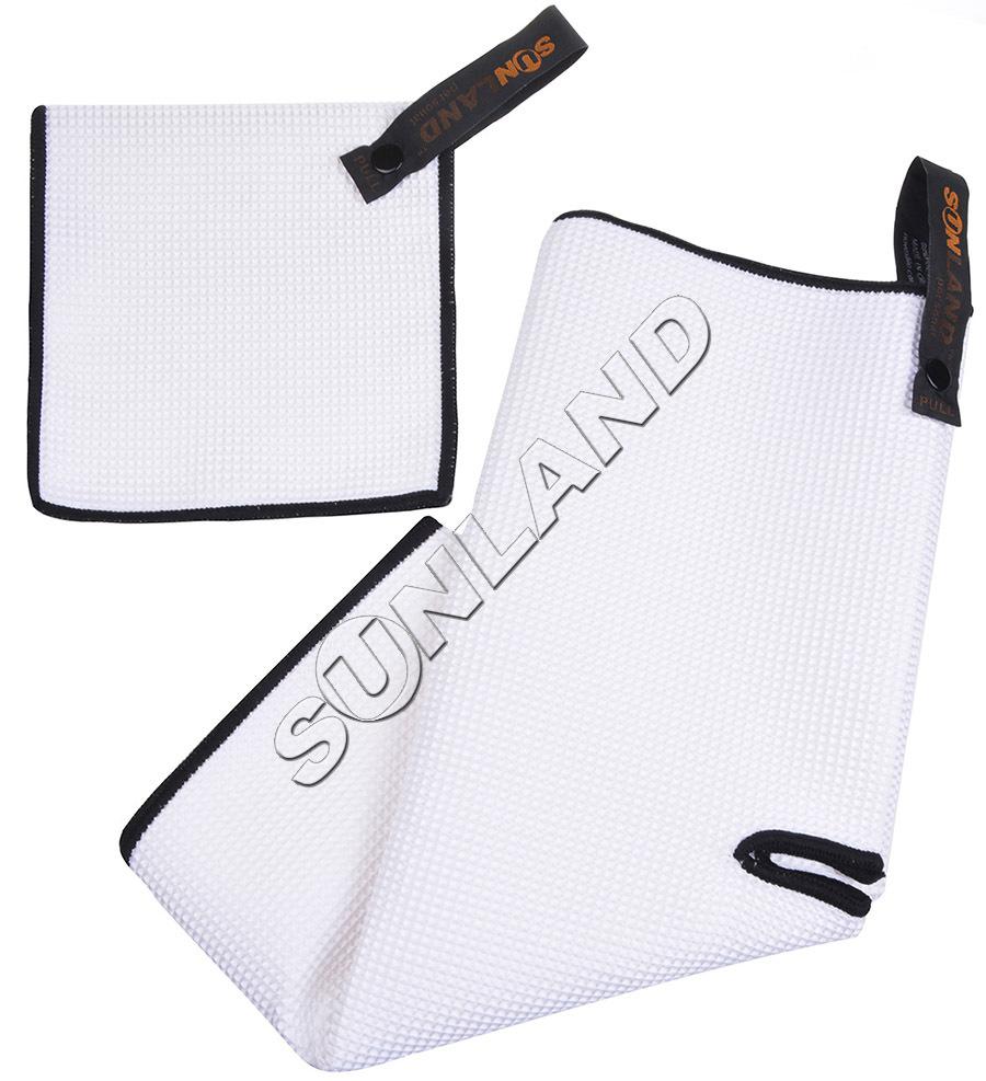 Sunland Microfiber Deep Waffle Weave Golf Towels Free Golf Balls Towel