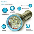 New 14000 Lumen Underwater Flashlight 7 x XM L2 LED Scuba Diving Flashlight Diver Torch Light