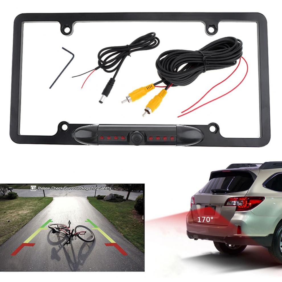 2018 Rear View Night Vision Wide Angle Auto Car License Plate Frame ...