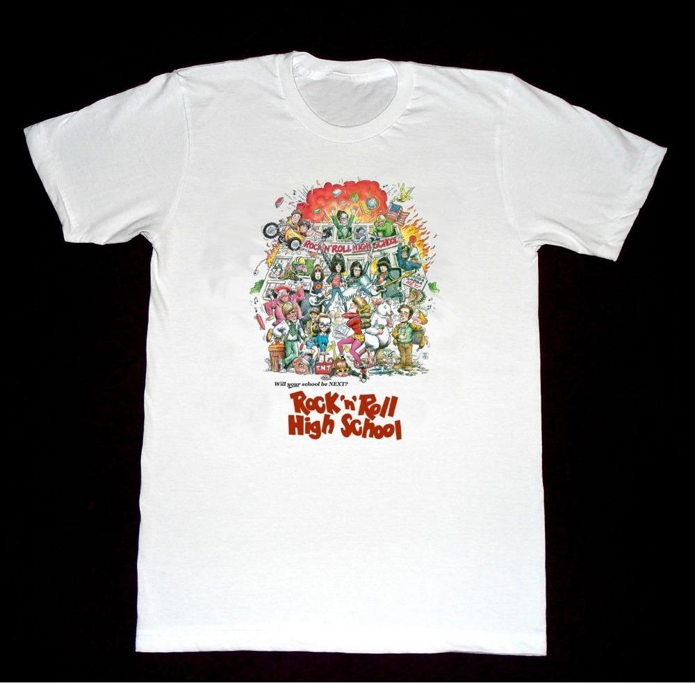 School shirt design your own - Printed T Shirt Cotton T Shirt New Style Gildan Ramones Rock Roll High School Men S Graphic O Neck Short Sleeve T Shirts