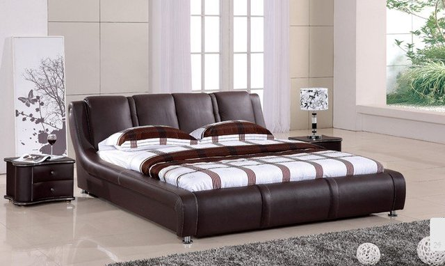 Living room furniture,the head layer leather soft bed.