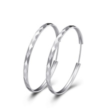 Sale Free Shipping 2015 Fashion Charms Design 925 Silver White Gold Hip Hoop Vintage Earring Jewelry for Women Girls Party  R044(China (Mainland))