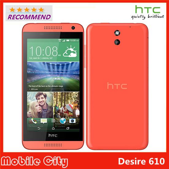 "Original Refurbished Unlocked HTC Desire 610 Qual Core Mobile phone 4.7"" 1GB RAM 8GB ROM GPS Wifi 3G 4G Android Free Shipping(China (Mainland))"