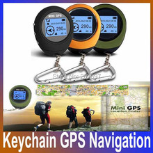 Big discount 2014 New Portable Mini Handheld Keychain Outdoor Sport Travel GPS Navigation, Free Shipping(China (Mainland))
