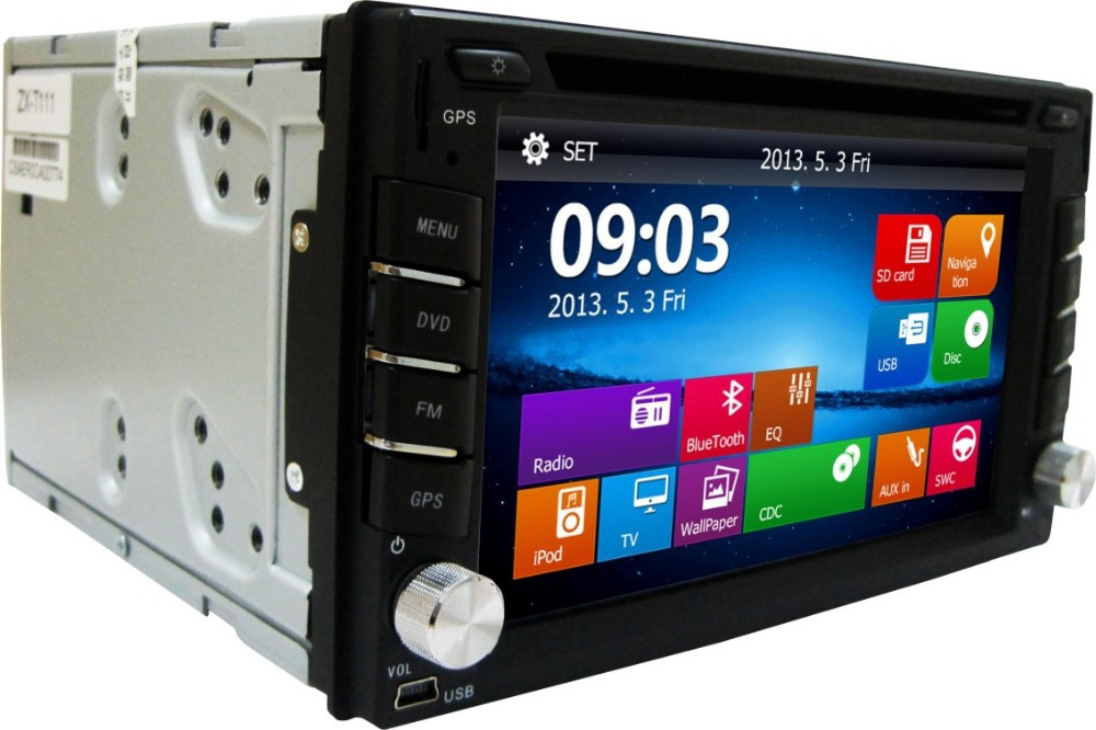 DVD Player Interchangeable car stereo 2 din car dvd gps radio Interchangeable Universal Radio Steering Wheel Control(China (Mainland))