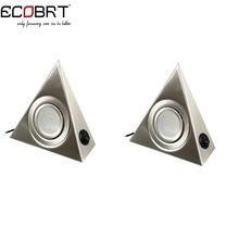 Moderno triangolo led under cabinet luci con rocker switch 110 v/220 v 1.2 w cucina sotto-contatore illuminazione 2 pz/lotto(China (Mainland))