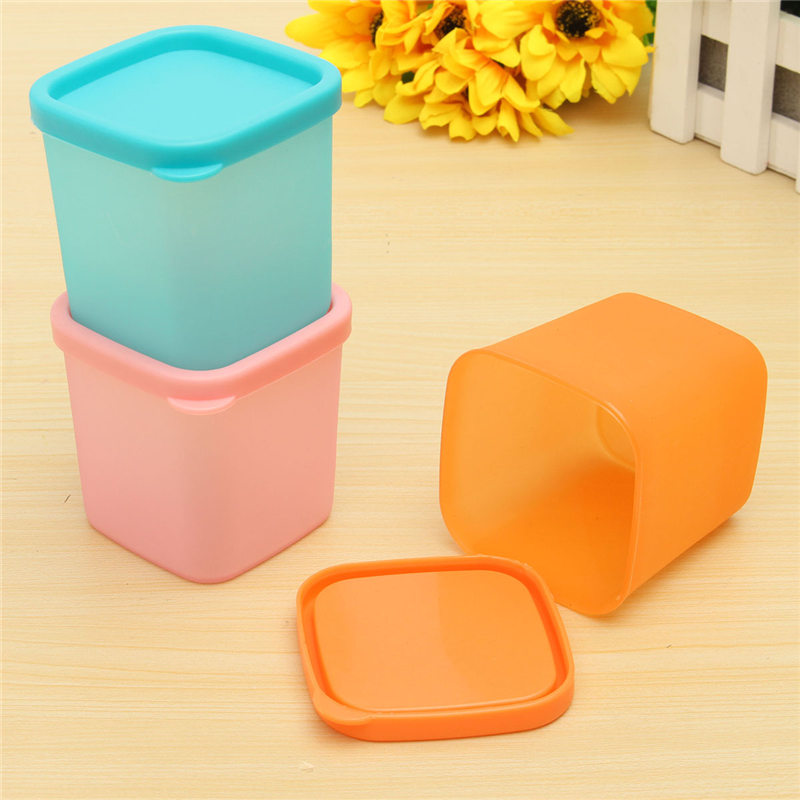 NEW 1pc Mini 230ml Multi-functional Sealed Refrigerator Crisper Plastic Box Bin Kitchen Sorting Food Storage Preservation Boxes(China (Mainland))