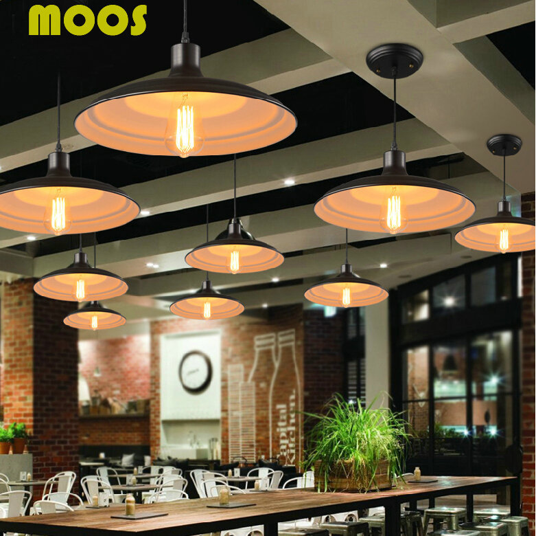 Loft American Country Vintage Pendant Lights Industrial Pendant Lamps Nordic Restaurant Droplight Home Decorative Light Fixture