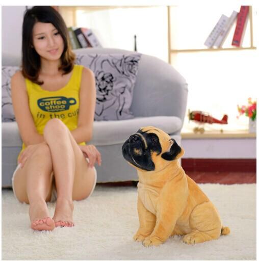 middle size cute Plush dog toy stuff simulation Squating saks dog cute stuff doll gift about 38cm(China (Mainland))