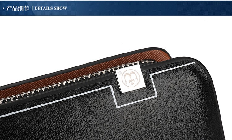d2b10dadf406 Wholesale Luxury Wallets Double Zipper Leather Male Purse Business ...