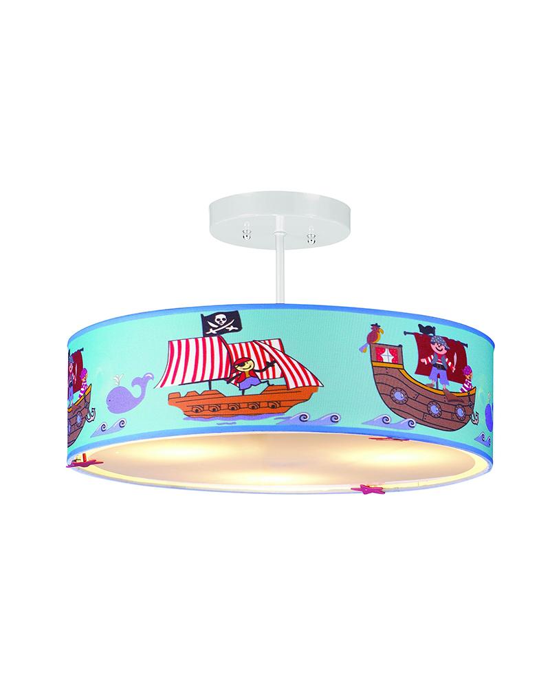 kinderen lamp piratenschip patronen kinderen hanger lampen slaapkamer ...