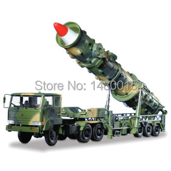 Free shipping!!!Dongfeng 21 ,model of missile launching vehicle,1:30,made of metal.Military vehicle model(China (Mainland))