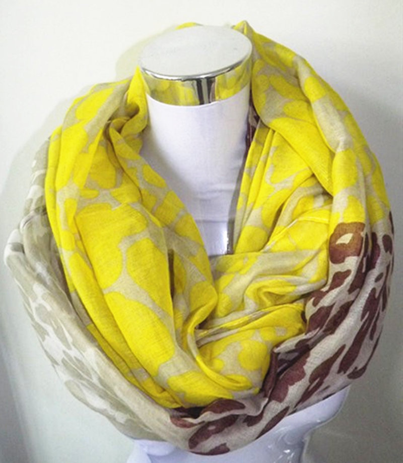11 color Neon Color Leopard Print Infinity Scarf Snood Women's big size Leopard scraf Free Shipping(China (Mainland))