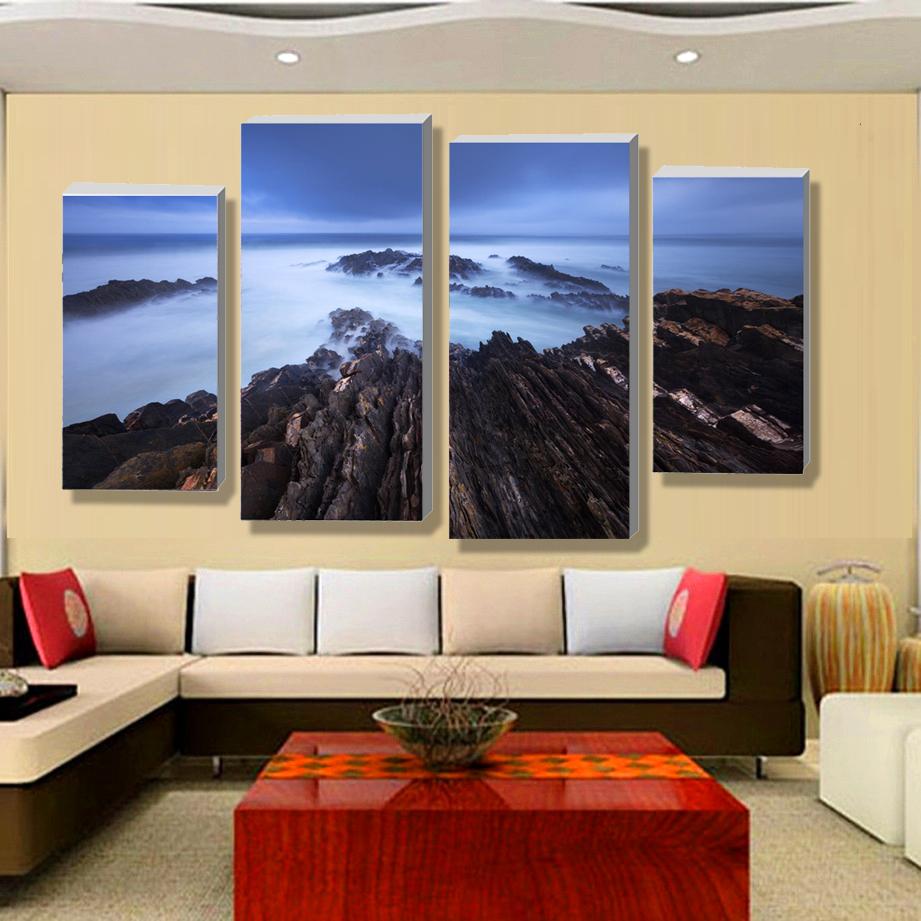 Gratis winkelen mooie moderne landschap schilderij paneel high definition afdrukken 4 de - Decoratie woonkamer aan de muur ...