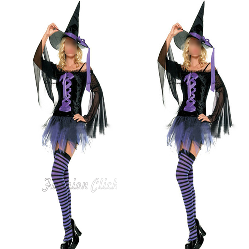 New 2015 Unique sexy purple slim Tassel witch cosplay costume adult Party halloween costumes for women Fantasias Femininas L6673(China (Mainland))
