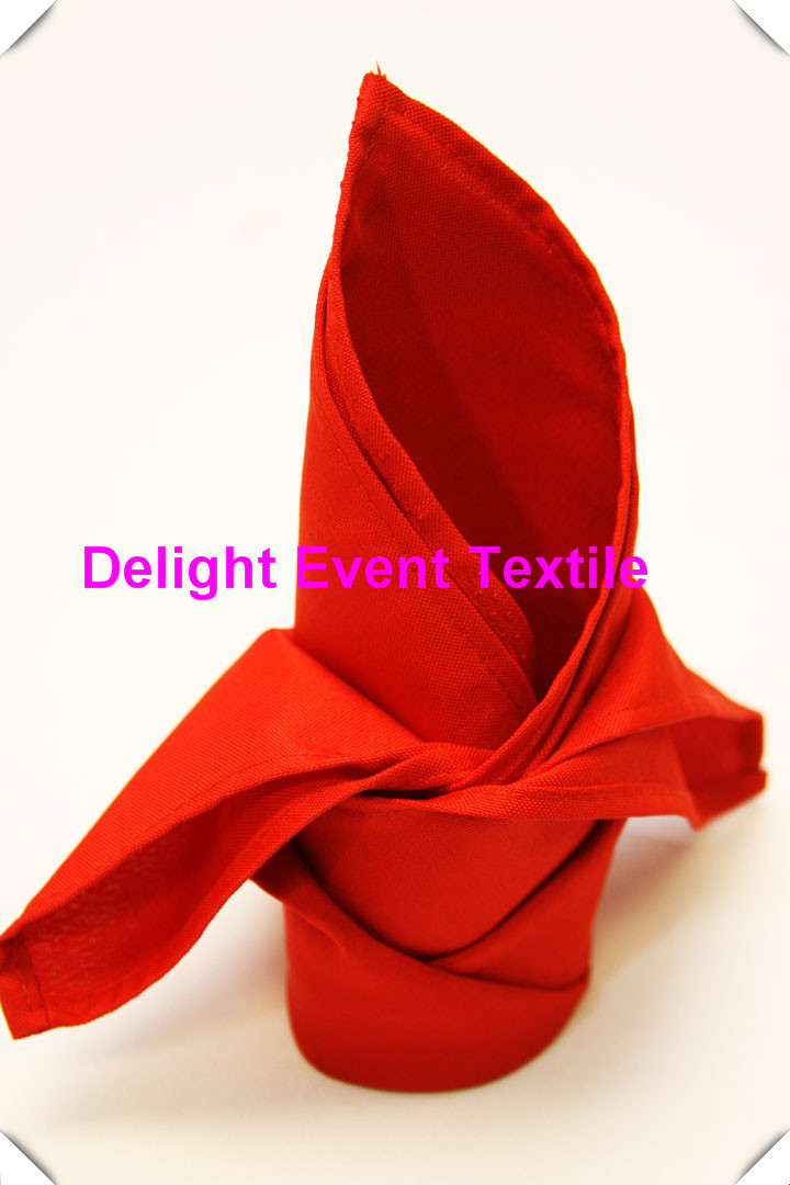 100pcs Quality #51 Chinese Red Polyester Plain 40x40cm Napkins,Table Serviettes for Wedding Events &Party&Banqute Decoration(China (Mainland))