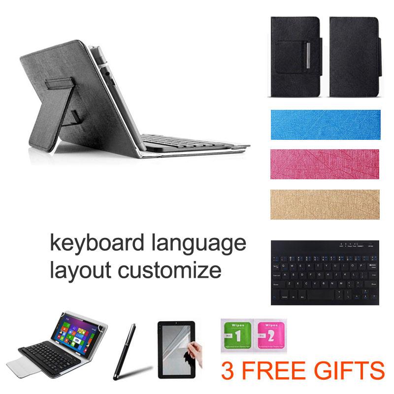 3 Gifts 10.1 inch UNIVERSAL Wireless Bluetooth Keyboard Case for HP Pavilion X2 Z3745D/Z3736F Keyboard Language Layout Customize(China (Mainland))
