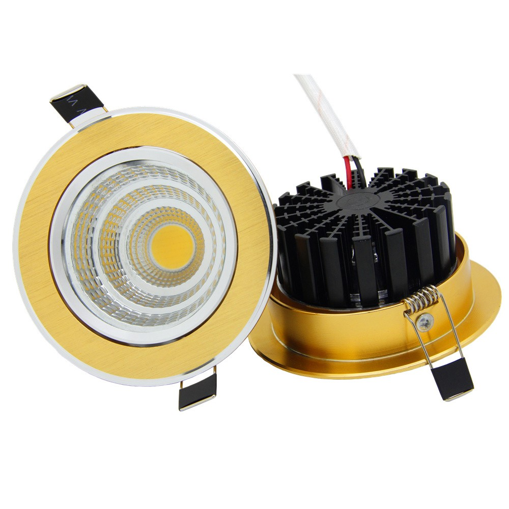 Luxury-Gold-Downlight-6W-9W-12W-15W-Recessed-LED-Spot-Light-Ceiling-Lamp-Ultra-gorgeous-Dimmable