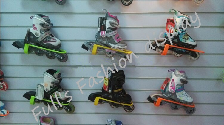 50pcs Fashion Universal card slots Skates Roller shoe Roller skates Skating shoes display stand rack for store exhibition(China (Mainland))